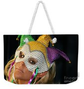 Blond Woman With Mask Weekender Tote Bag