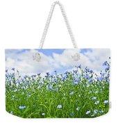 Blooming Flax Field Weekender Tote Bag by Elena Elisseeva