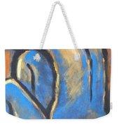 Blue Back Weekender Tote Bag
