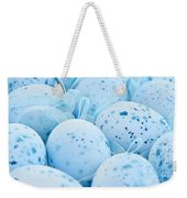 Blue Easter Eggs Weekender Tote Bag by Elena Elisseeva