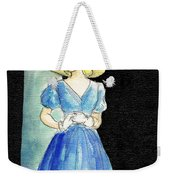 Blue Gown Weekender Tote Bag