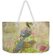 Blue Jay With Texture II Weekender Tote Bag