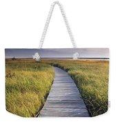 Boardwalk Along The Salt Marsh Weekender Tote Bag