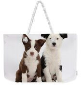 Border Collie Puppies Weekender Tote Bag
