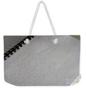 Braille Weekender Tote Bag by Photo Researchers, Inc.