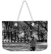 Bubble Boy Of Central Park In Black And White Weekender Tote Bag