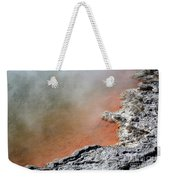 Bubbles Rising In Champagne Pool Hot Weekender Tote Bag