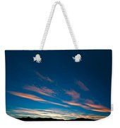 Burning Evening Sky Towards End Of Sunset Weekender Tote Bag