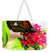 Butterfly Flowers Weekender Tote Bag