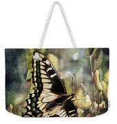 Butterfly On Yellow Flowers Weekender Tote Bag