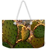 Cactus Heart In Sunset Weekender Tote Bag