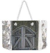 Caerphilly Castle Gate Weekender Tote Bag