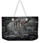 Candle Holder And Sword Weekender Tote Bag by Joana Kruse