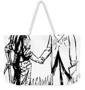 Cartoon: Fdr & Workingmen Weekender Tote Bag