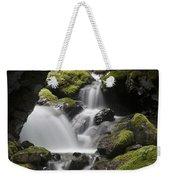 Cascading Creek In Temperate Rainforest Weekender Tote Bag