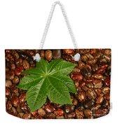 Castor Bean Leaf And Seeds Weekender Tote Bag