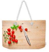 Cherry Tomatoes Weekender Tote Bag by Tom Gowanlock