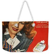 Chesterfield Cigarette Ad Weekender Tote Bag by Granger