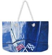 Chevrolet Corvette Hood Emblem Weekender Tote Bag