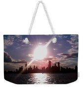 Chicago Sunset Weekender Tote Bag