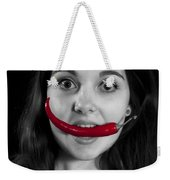 Chillies Weekender Tote Bag by Joana Kruse