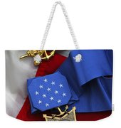 Close-up Of The Medal Of Honor Award Weekender Tote Bag