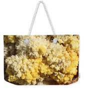 Close-up Of Yellow Salt Crystals Weekender Tote Bag