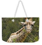 Close View Of A Giraffe Weekender Tote Bag