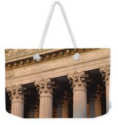 Closeup Of The U.s. Supreme Court Weekender Tote Bag