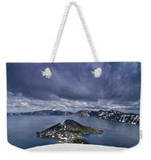 Clouds Over Crater Lake Weekender Tote Bag