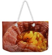 1 Cm Yellow Tube Polyp With A Small Weekender Tote Bag