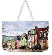 Colorful Houses In Newfoundland Weekender Tote Bag by Elena Elisseeva