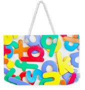 Colorful Letters Weekender Tote Bag