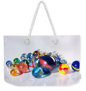 Colorful Marbles Weekender Tote Bag by Carlos Caetano