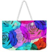 Colorful Roses Design Weekender Tote Bag by Setsiri Silapasuwanchai