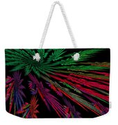 Computer Generated Red Green Abstract Fractal Flame Modern Art Weekender Tote Bag