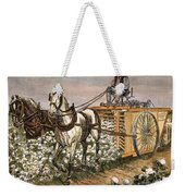 Cotton Harvester, 1886 Weekender Tote Bag