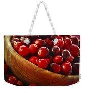 Cranberries In A Bowl Weekender Tote Bag by Elena Elisseeva