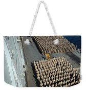 Crew Aboard The Amphibious Assault Ship Weekender Tote Bag