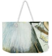 Dancer In Her Dressing Room Weekender Tote Bag by Edgar Degas