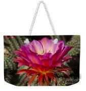 Dark Pink Cactus Flower Weekender Tote Bag