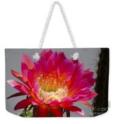 Deep Pink Cactus Flower Weekender Tote Bag