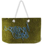 Dna And E. Coli Rna Polymerase Reaction Weekender Tote Bag