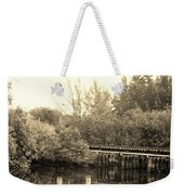 Dock On The River In Sepia Weekender Tote Bag