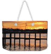 Dock Sunset Weekender Tote Bag