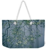 Dogwood Blossoms In A Foggy Forest Weekender Tote Bag