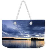 Dramatic Sunset At Lake Weekender Tote Bag