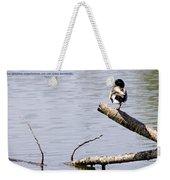 Duck On A Log Weekender Tote Bag
