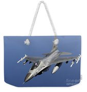 Dutch F-16am During A Combat Air Patrol Weekender Tote Bag