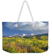 East Beckwith Mountain Flanked By Fall Weekender Tote Bag